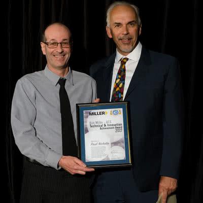 ACS Paul Nichola with Bob Miller Technical & Innovation Achievement Award