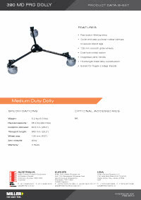 390 MD Pro Dolly Product Data Sheet