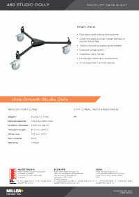 480 Stuido Dolly Product Data Sheet
