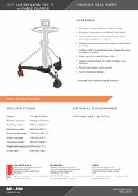 3222 HD Dolly Product Data Sheet