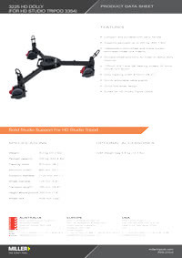 3225 HD Tripod Dolly Product Data Sheet
