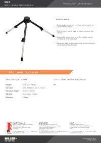 993 Mid Level Spreader Product Data Sheet