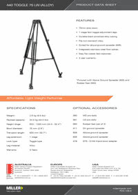 440 Toggle 75 LW Product Data Sheet