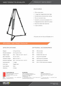 440G Toggle 75 LW Product Data Sheet