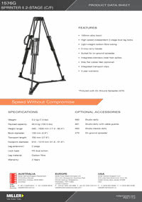 1576G Sprinter II 2-stage Product Data Sheet
