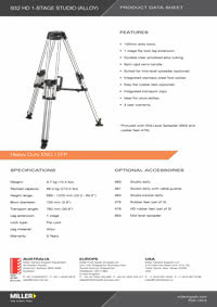 932 HD 1-stage studio Product Data Sheet