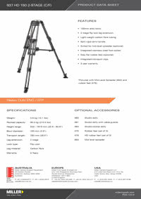 937 HD 150 2-stage Product Data Sheet
