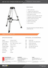 944 HD 150 1-stage Studio Product Data Sheet