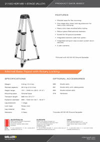 945 HD 150 1-stage Mini Product Data Sheet